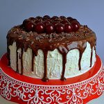 tort Czarny Las, tort Szwarcwaldzki, tort Black Forest, tort z wiśniami, tort czekoladowy z wiśniami