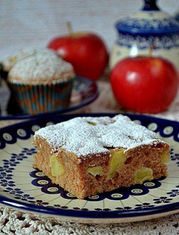szybkie ciasto z jabłkami, szybkie ciasto bez miksera, ciasto z jabłkami, jabłka, cynamon