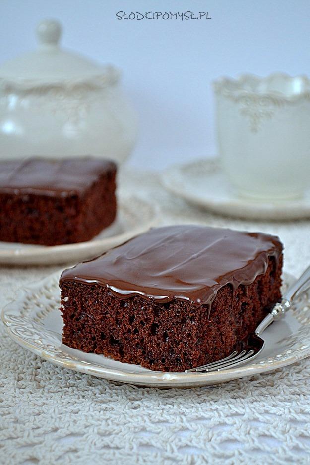 czekoladowe ciasto z cukinią, ciasto z cukinią, ciasto czekoladowe, polewa czekoladowa, cukinia, czekolada,