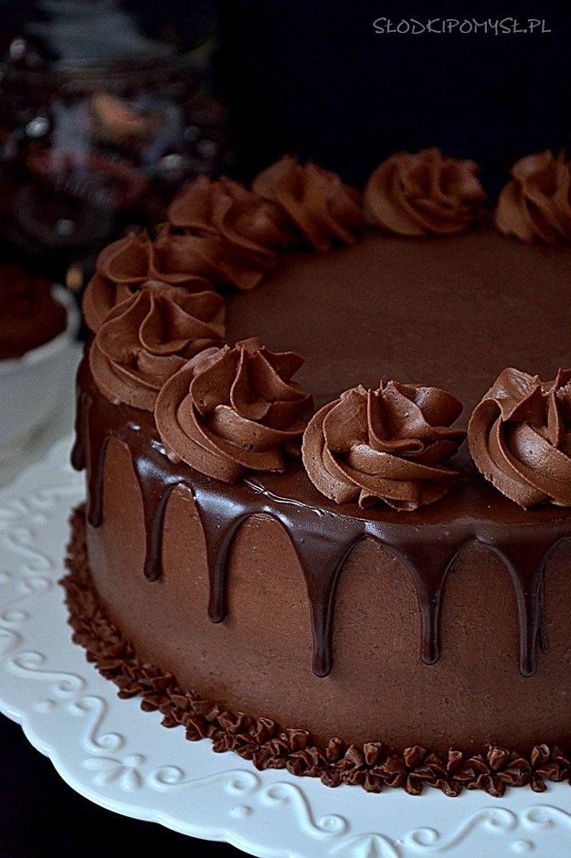tort z truflami, tort truflowy, krem z truflami, krem truflowy, czekolada, cukierki, trufle,