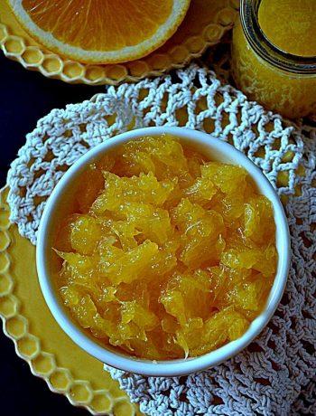 frużelina pomarańczowa, pomarańcze w żelu, frużelina z pomarańczy, pomarańcze w galaretce,