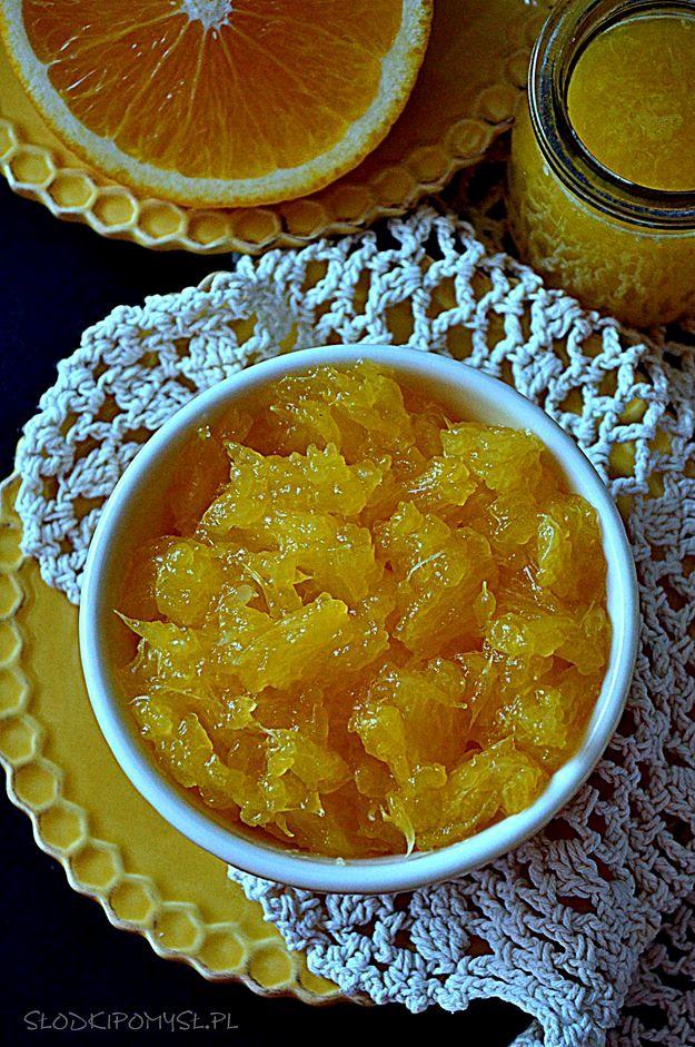 frużelina pomarańczowa, frużelina z pomarańczy, pomarańcze w galaretce, pomarańcze, sok z pomarańczy