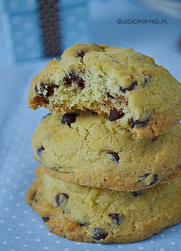miękkie ciasteczka zczekoladą, miękkie ciastka, ciastka zczekoladą, maślane ciasteczka, czekolada