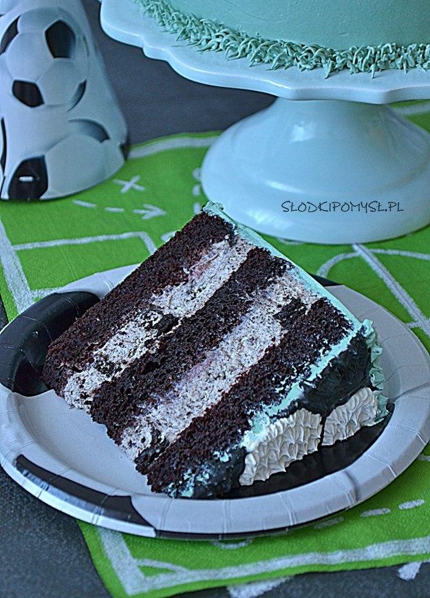 tort oreo, piłka nożna, krem oreo, tort dla piłkarza, tort dla fana piłki nożnej,