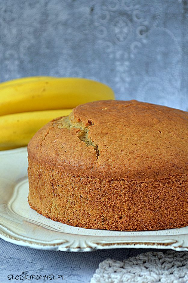 bananowe ciasto do tortu, ciasto z bananami, ciasto bananowe, banany, ciasto do tortu