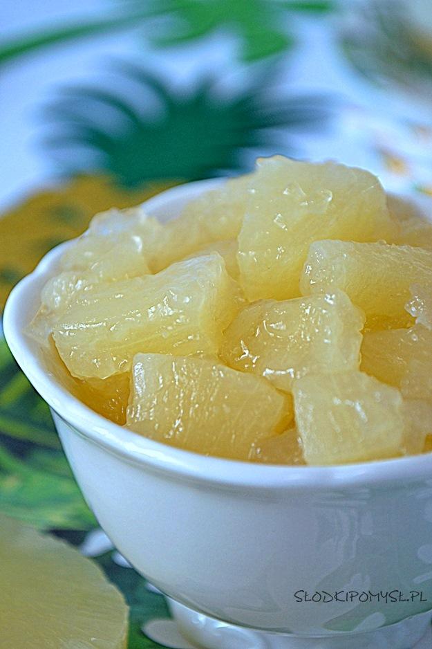 frużelina ananasowa, frużelina z ananasa, ananas w żelu, ananasy w galaretce,