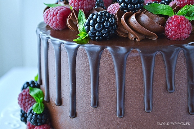 drip na tort, drip do tortu, drip, ciemny drip, czekoladowy drip, czarny drip, polewa czekoladowa,
