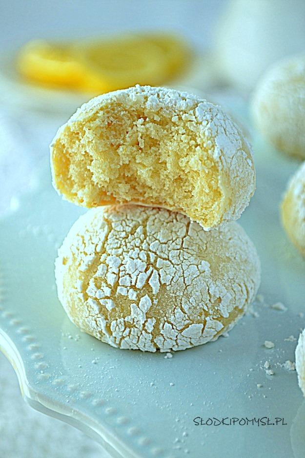 ciasteczka cytrynowe popękane, cytrynowe ciasteczka pękające, popękane ciasteczka cytrynowe,