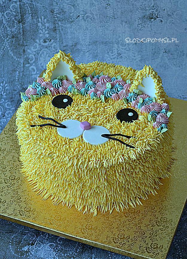 tort z kremem oreo, tort kot, tort dla dzieci, tort w kształcie kota,