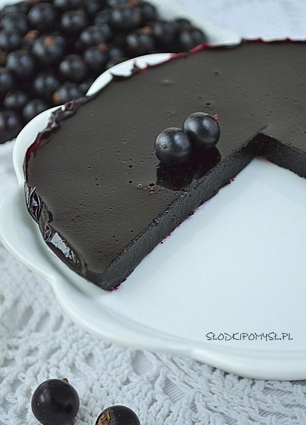 żelka z czarnej porzeczki, żelka porzeczkowa, żelka z porzeczki do tortu, żelka do tortu, owocowa wkładka do tortu,